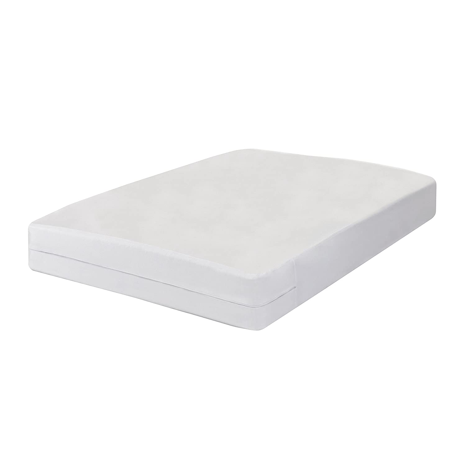 Bed Bug Blocker Hypoallergenic All In One Breathable Twin Mattress Cover Encasement Protector Zippered Water Resistant Dust Mite Allergens Insects FRE146XXWHIT01