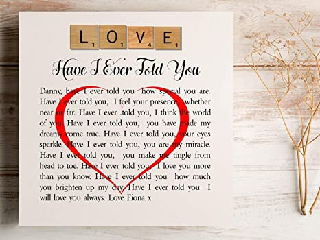 Romantic I Love You Poem Candle Gift Anniversary Birthday Candle