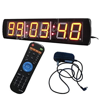 "4 ""alta Character LED Digital reloj de pared 12/24 horas pantalla con"