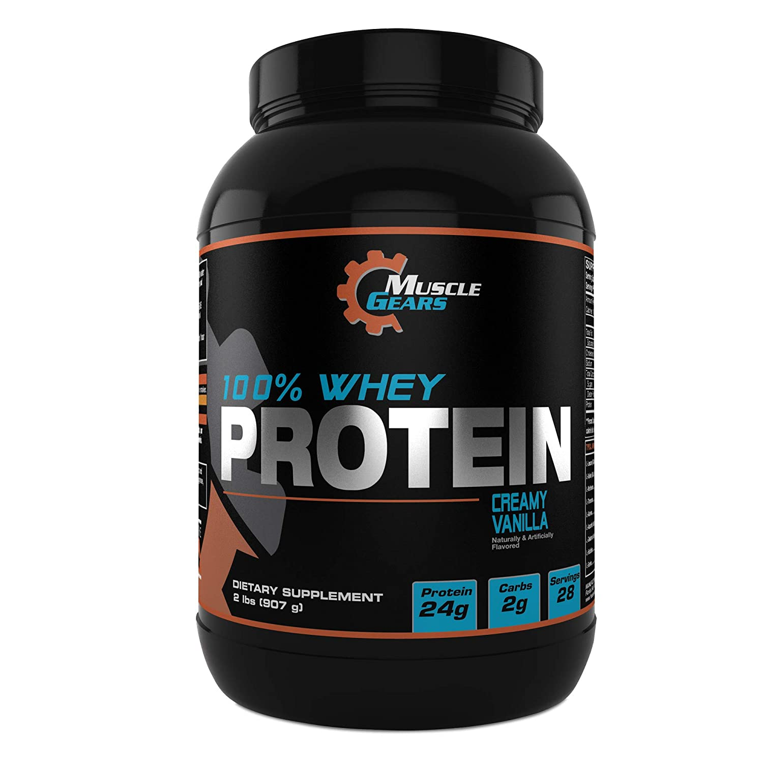 Muscle Gears 100 Whey Protein 2lb, Vanilla