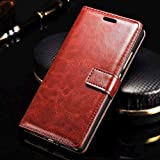 XORB® Micromax Canvas Infinity Flip Cover PU Leather Case Premium Luxury Revel Touch PU Leather Cover for Micromax Canvas Infinity Brown