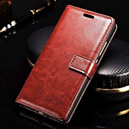 best loved ffe2b 9b87d XORB® Oppo F5 Flip Cover PU Leather Case Luxury Revel Touch PU Leather  Cover for Oppo F5 Brown