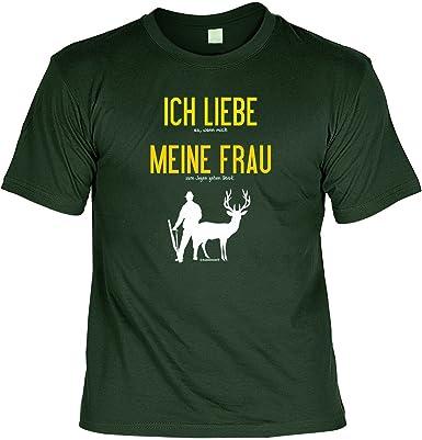 T Shirt Ich Liebe Meine Frau Wenn Ich Jagen Darf Lustiges