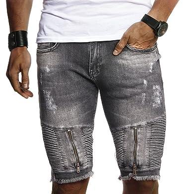 67cc529aa1 LEIF NELSON Herren Männer Jungen Sommer Kurze Biker Jogger Jeans Hose  Shorts Jeanshose Chinos Cargo Bermuda