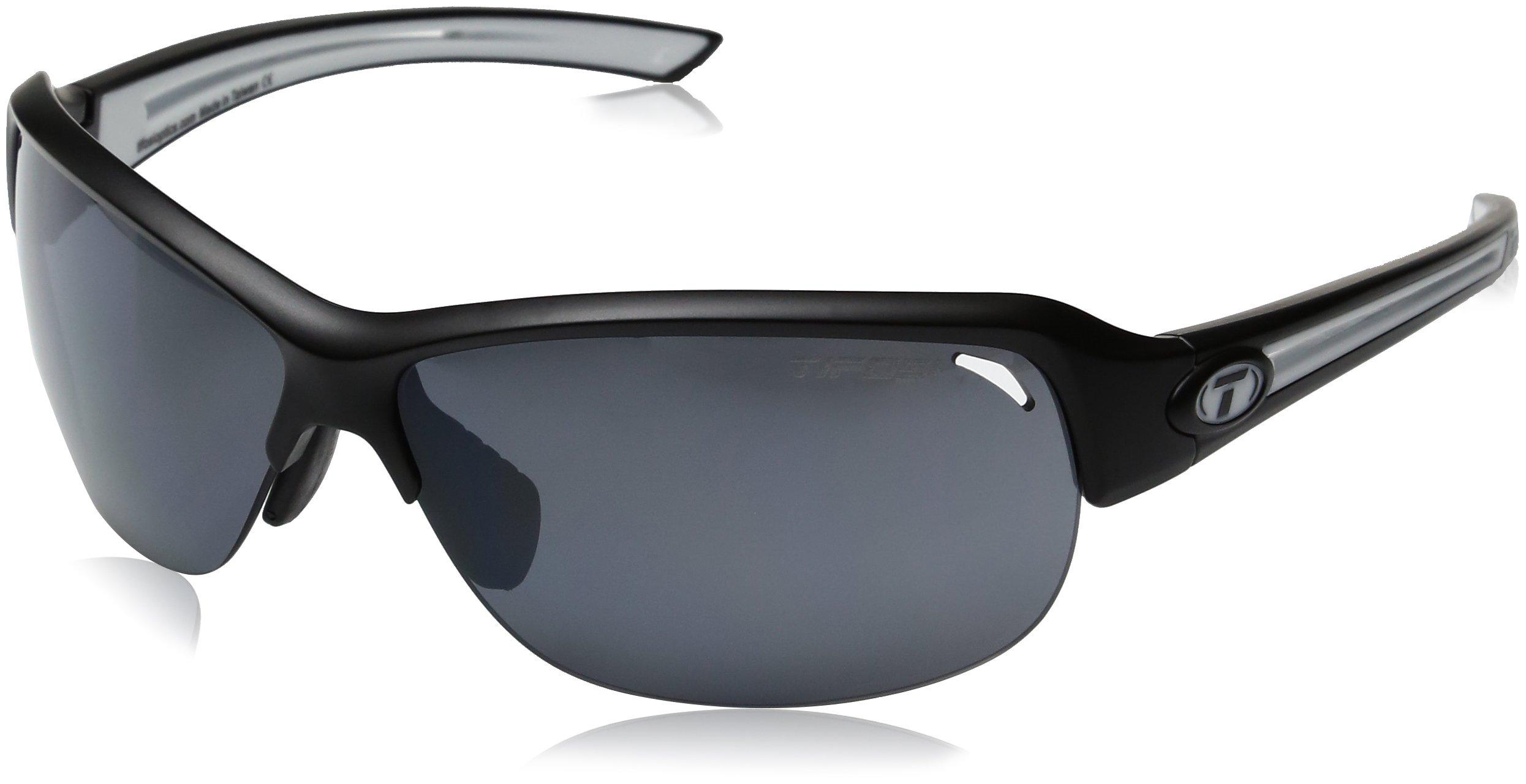 Tifosi Wrap Mira Black/White Single Lens Sunglasses, 142 mm