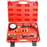 FreeTec Contrôleur de pression essence système d'injection Testeur de pression essence Set à pression Set d'auto voiture krafststoff Manomètre 0–140PSI