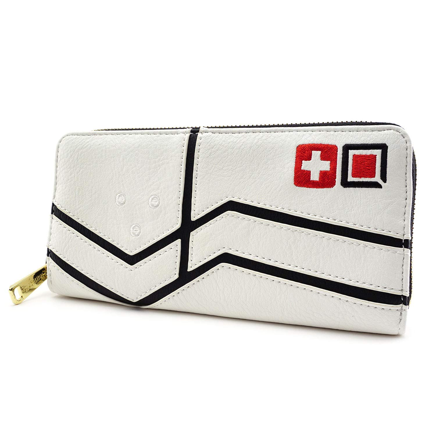 Loungefly Overwatch Mercy Faux Leather Zip around Wallet,Black,cream,Standard by Loungefly (Image #3)