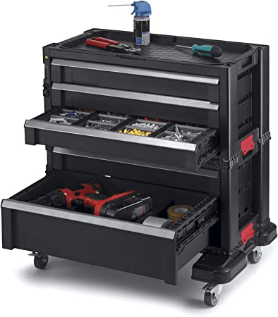 Tool Box Chest Interlocking Case Storage Organizer Portable Cabinet Toolbox New