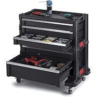 Keter 240762 5 cajones modular cochera y organizador de herramientas, color negro