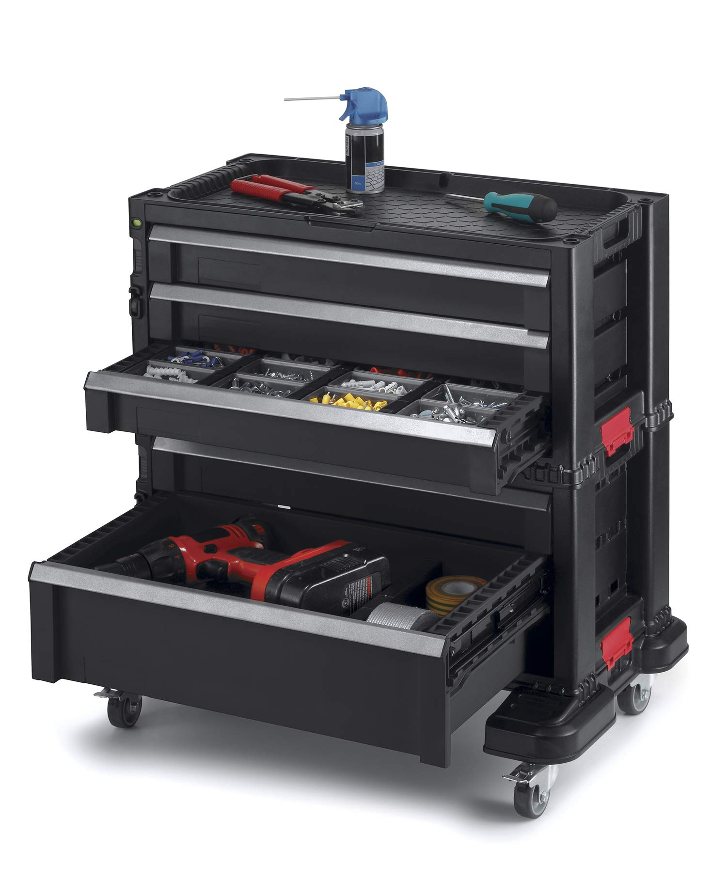 Keter 240762 5 Drawer Modular Garage & Tool Organizer, Black by Keter