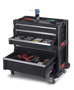 Keter 240762 5 Drawer Modular Garage & Tool Organizer, Black