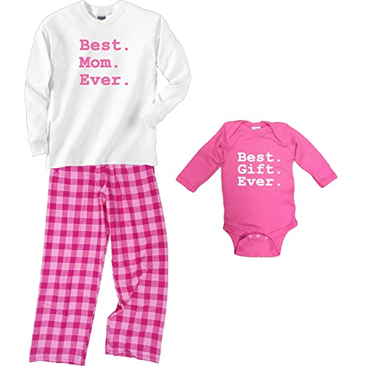 d6cfb522caa7 Amazon.com  Footsteps Clothing Best Mom Ever Bubblegum Pajamas ...
