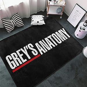 Korlav Greys Anatomy Bedroom Rugs Living Room Kitchen Floor Mats Home Decor Non-Slip Floor Pad Rugs Fast Dry Rug Yoga Mat Throw Rugs Arcade Game Carpet 59×39 Lnch