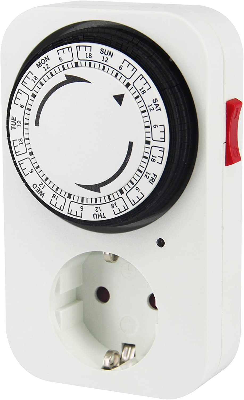 Electraline Programmateur Timer Manuel hebdomadaire Blanc 59504