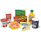 Melissa & Doug Fridge Food Wooden Play Food Set (9 pcs)