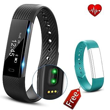 Bracelet Connecté Cardiofréquencemètre, Fitness Tracker Cardio, Bracelet Sport Etanche Tracker dActivité Podomètre