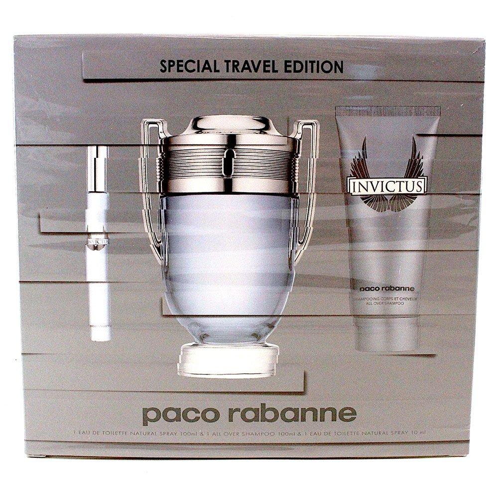 Paco Rabanne Invictus Eau De Toilette Vaporisateur 100ml Coffret 3 Produits PAC3M