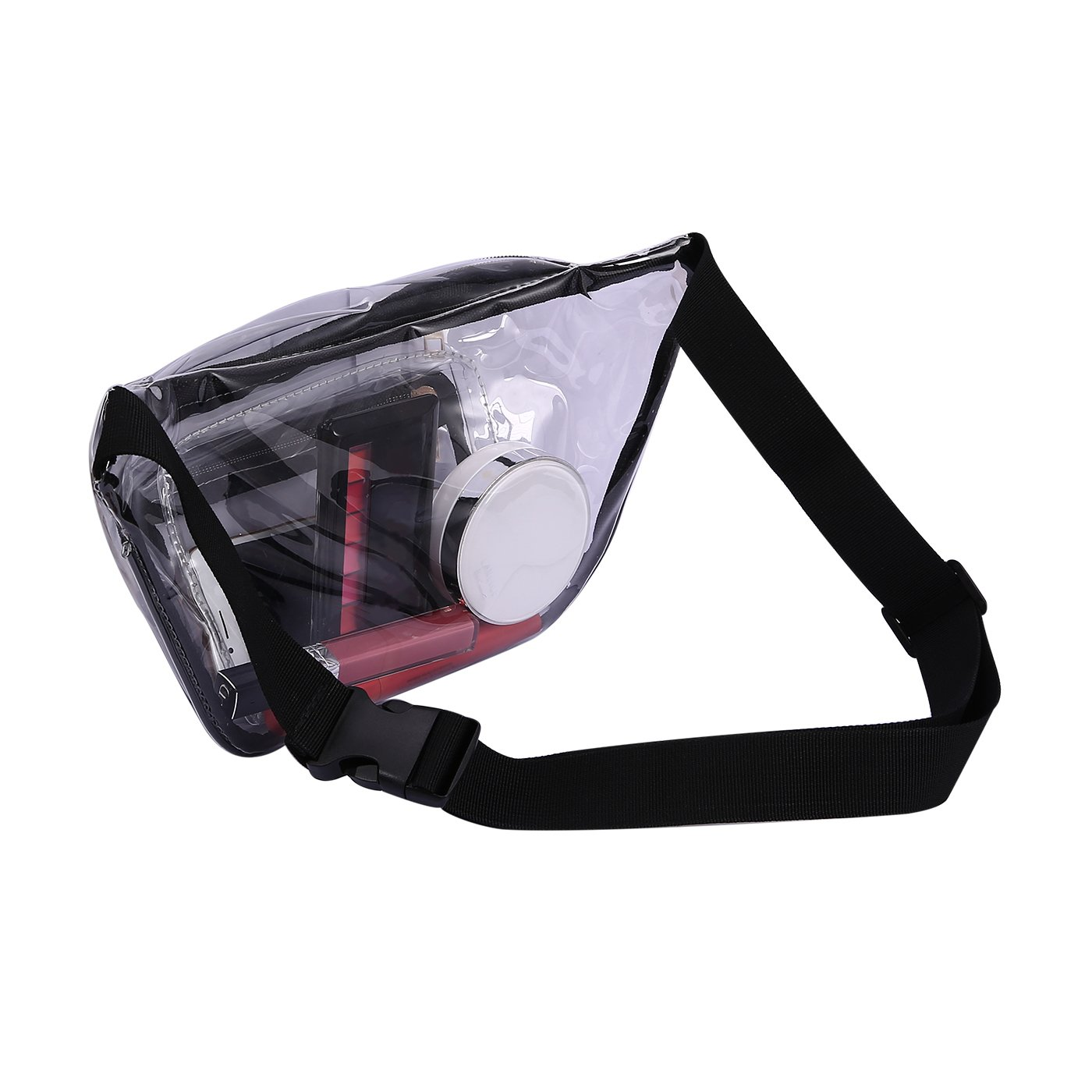 HDE Clear Fanny Pack Stadium Approved Rave Festival Travel Transparent Waist Pack