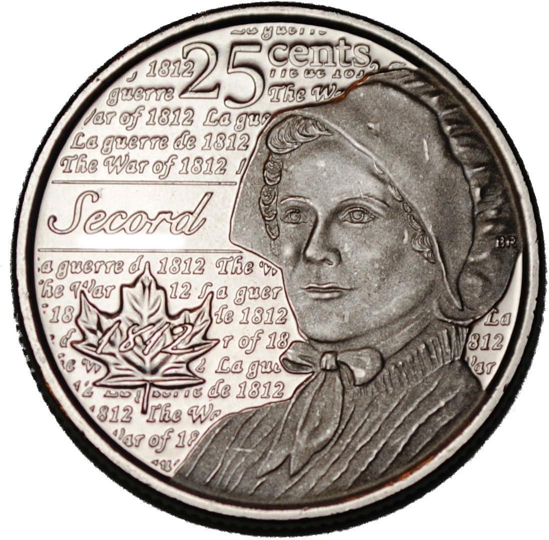 CANADA QUARTER LAURA SECORD 2013 NON-COLOR UNC COIN