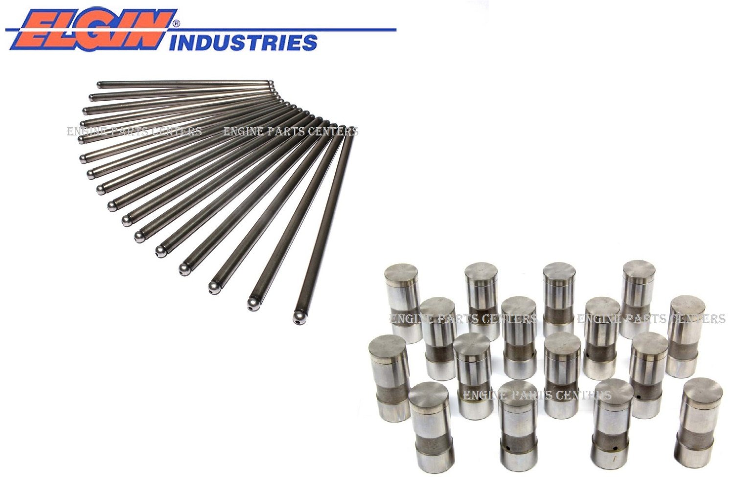 Pontiac 326 389 421 Push Rods Pushrods Set of (16) + Lifters 1961 62 63 64 65 66 67 (16 each) Elgin Industries