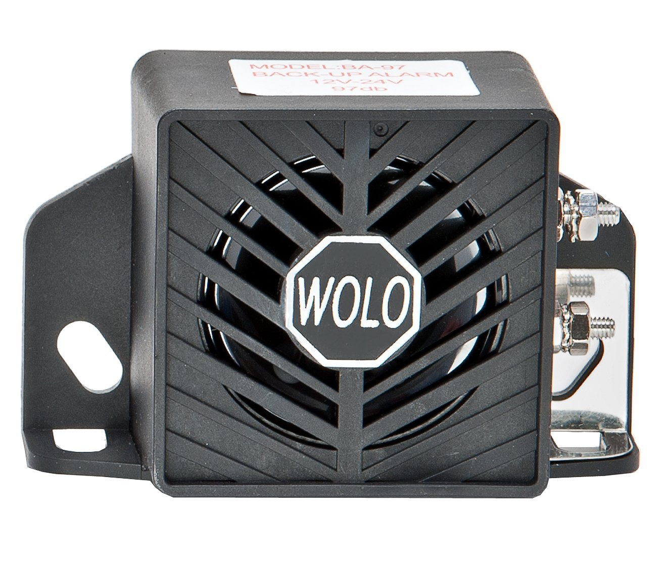 Wolo Model BA-97 Heavy Duty Commercial Grade Back-Up Alarm, Loud 97 Decibel, 12-24 Volt WOLQG