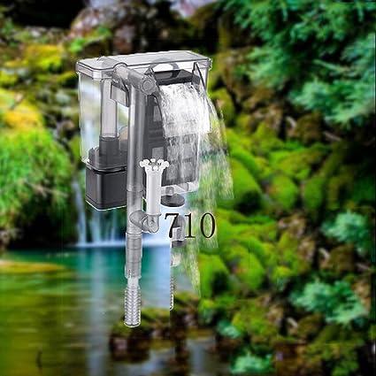 ZBXFF Acuario Cascada Filtro Silencioso Acuario Plug-In Tipo Montado En La Pared Pequeña Bomba