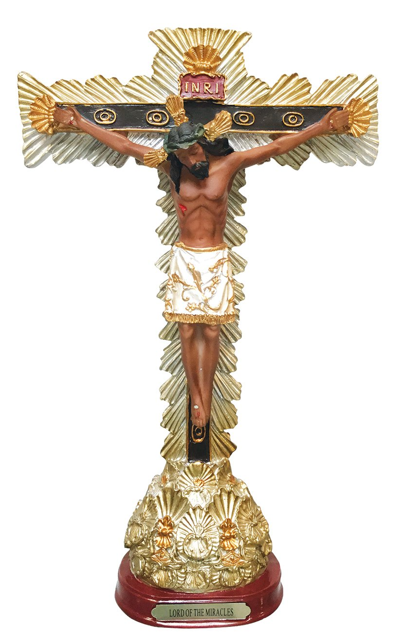 Miraculous Images of Our Lord Statue Lord of the Miracles Sculpture Crucifix Statue 12 Inch
