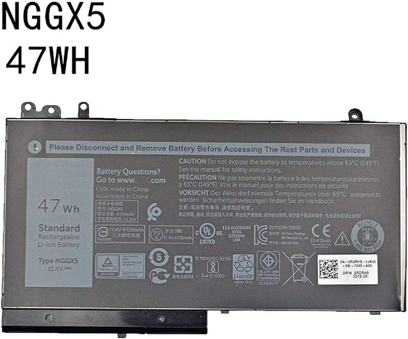 Amazon.com: Dentsing 11.4V 47Wh/4130mAh NGGX5 Laptop Battery Compatible with Dell Latitude E5270 E5470 E5570 M3510 Series Notebook JY8D6 954DF 0JY8D6: Computers & Accessories