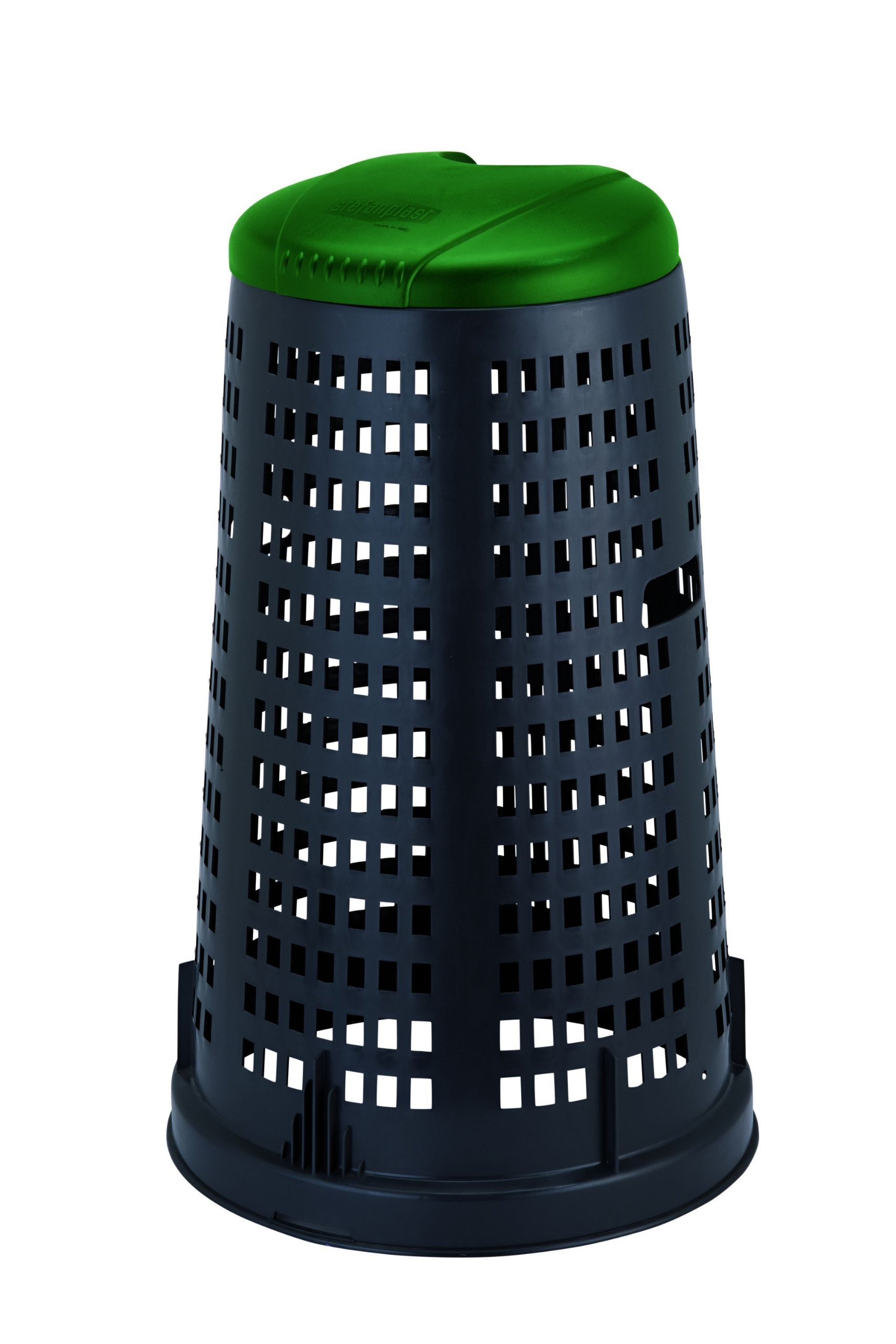 Stefanplast Trestle Bin, Green/Black, 100 Litre