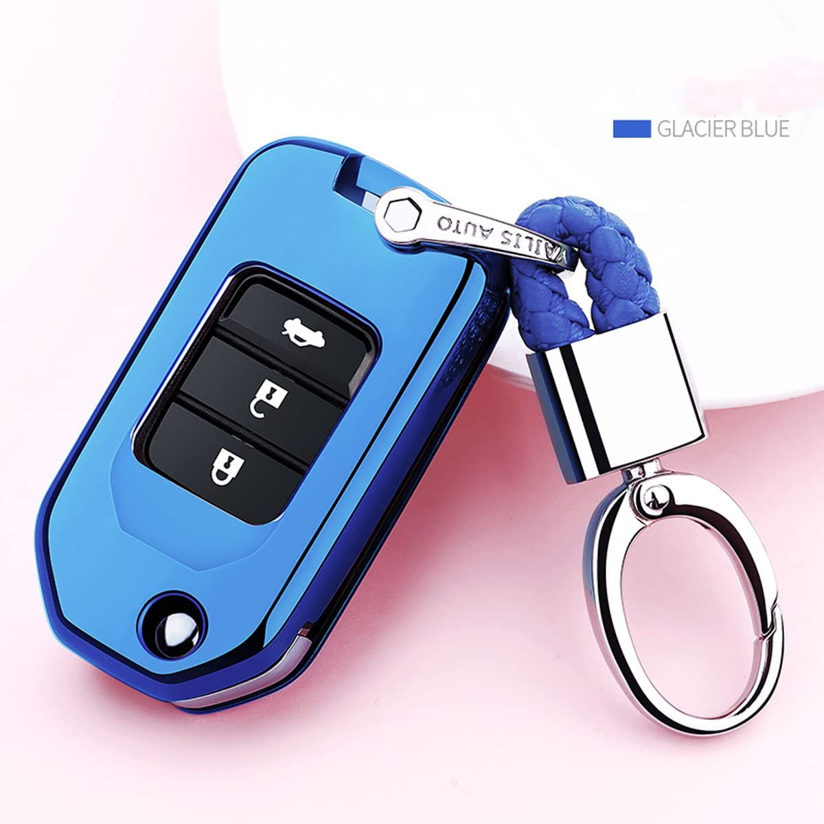 Key Fob Cover for Honda,Soft TPU Key Fob Case All-Around Protector Plating Shell Fit Keyless Smart Remote Key of Honda Accord Civic CRV Pilot Odyssey Fit HRV Clarity CRZ Ridgeline EX EX-L Red
