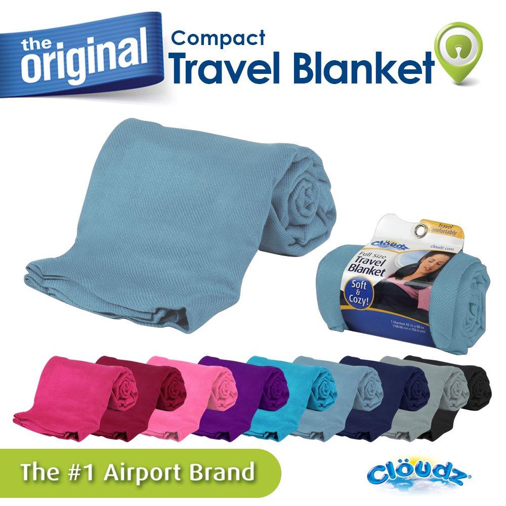 Cloudz Compact Travel Blanket - Black BLK-020678-CAT