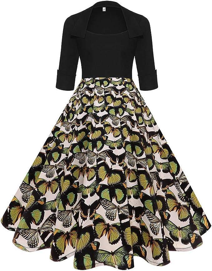Poachers Vestidos Otoño Mujer Tallas Grandes Hepburn Vestidos de ...