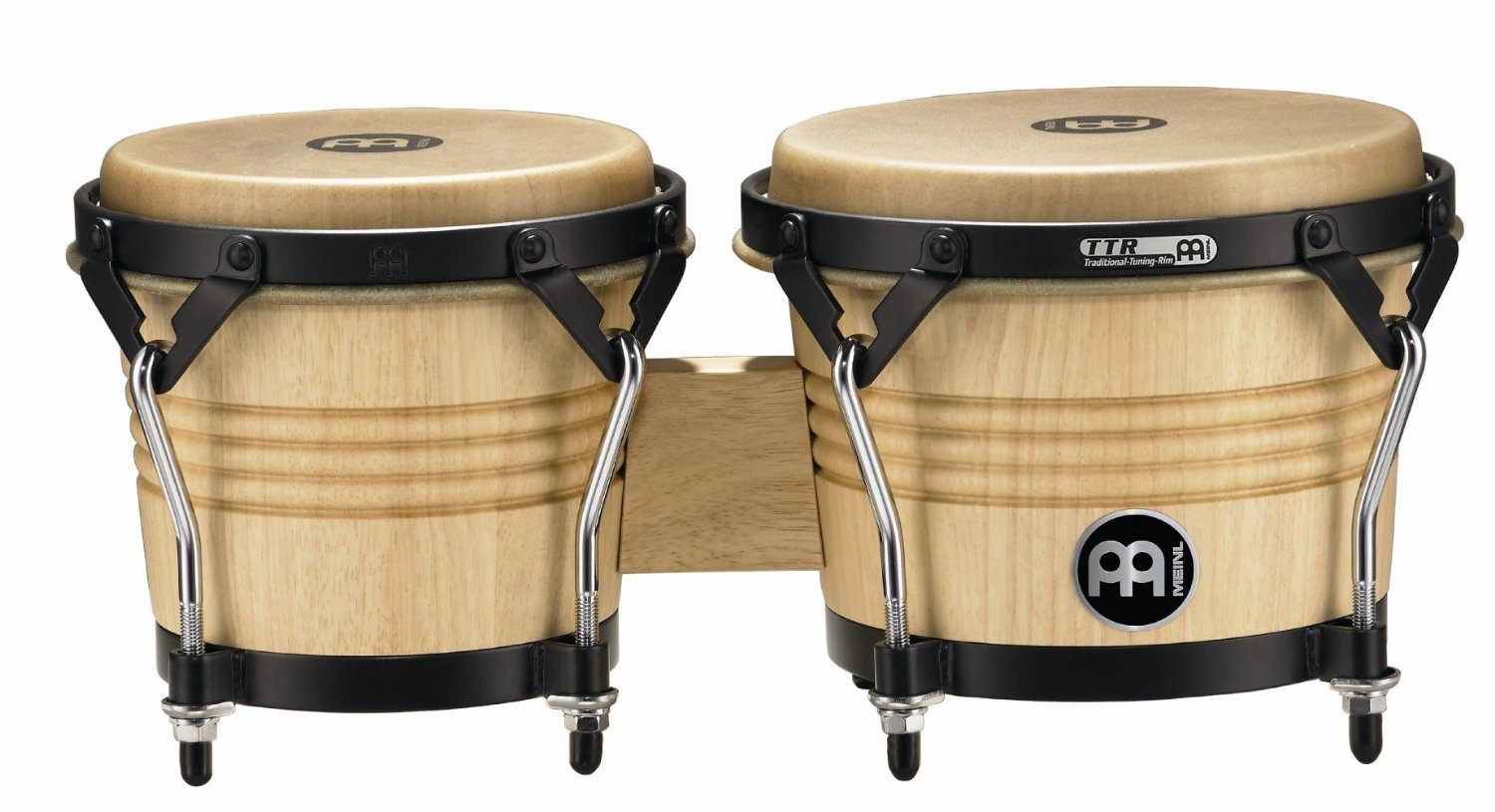 Meinl Percussion LC300NT-M Artist Series Luis Conte Signature Wood Bongos, Natural, 6 3/4-Inch and 8-Inch