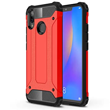 LXHGrowH Funda Huawei P Smart Plus, Fundas 2in1 Dual Layer Anti-Shock 360° Full Body Protección TPU Silicona Gel Bumper y Duro PC Armadura Carcasa ...