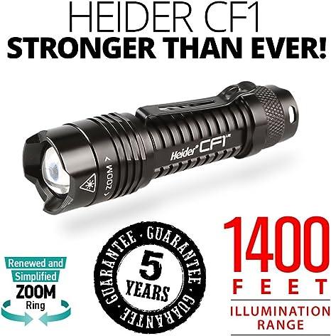 /400/metros Iluminaci/ón gama/ Heider CF1/V2/Super Power/ /Militar standarts linterna/ /resistente al agua cuerpo//& /150/minutos de tiempo de iluminaci/ón/