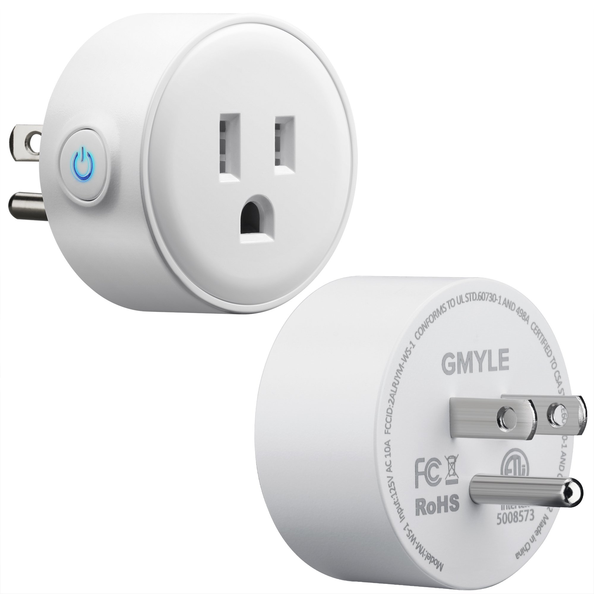 GMYLE 4 Pack Wifi Smart Plug Mini Outlet Power Control Socket, Remote Control Your Electric Devices from Anywhere, No Hub Required, Work with Amazon Alexa Echo Dot & Google Home, White by GMYLE (Image #9)