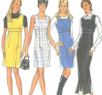 163912771 Image Unavailable. Image not available for. Color  6550 New Look Sewing  Pattern UNCUT Misses Jumper Dress ...