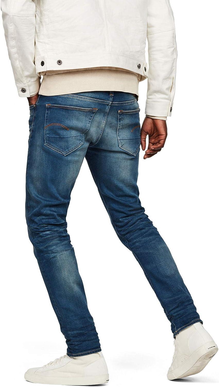 G-Star Raw Mens 3301 Slim Fit Jean in Firro Denim Medium Aged 38x32