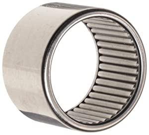 """Koyo B-88 Needle Roller Bearing, Full Complement Drawn Cup, Open, Inch, 1/2"""" ID, 11/16"""" OD, 1/2"""" Width, 5600rpm Maximum Rotational Speed, 3530lbf Static Load Capacity, 2170lbf Dynamic Load Capacity"""