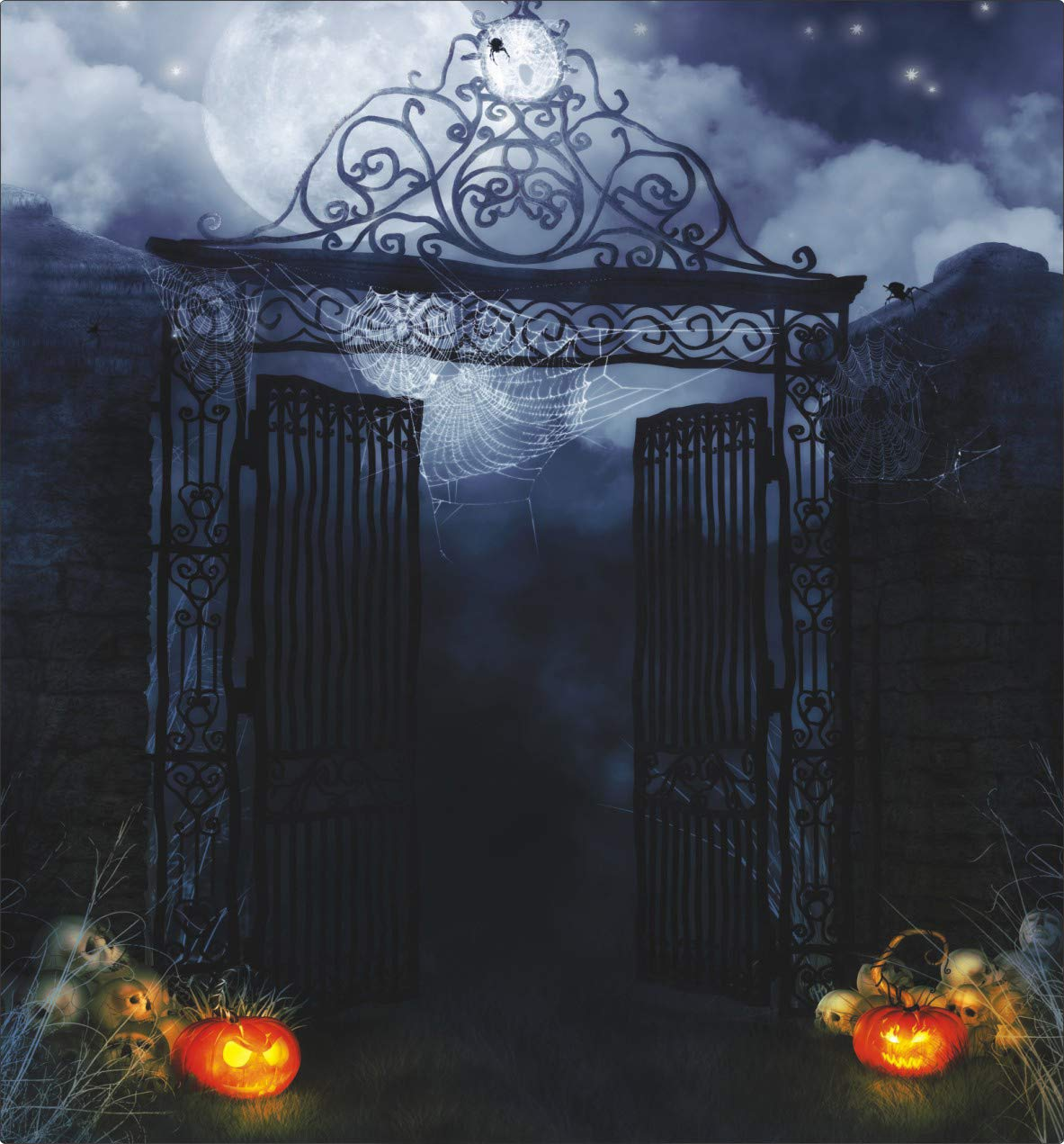 AIIKES 10x10ft Halloween Horror Night Pictorial cloth Photography Background Computer-Printed Backdrop 93-35