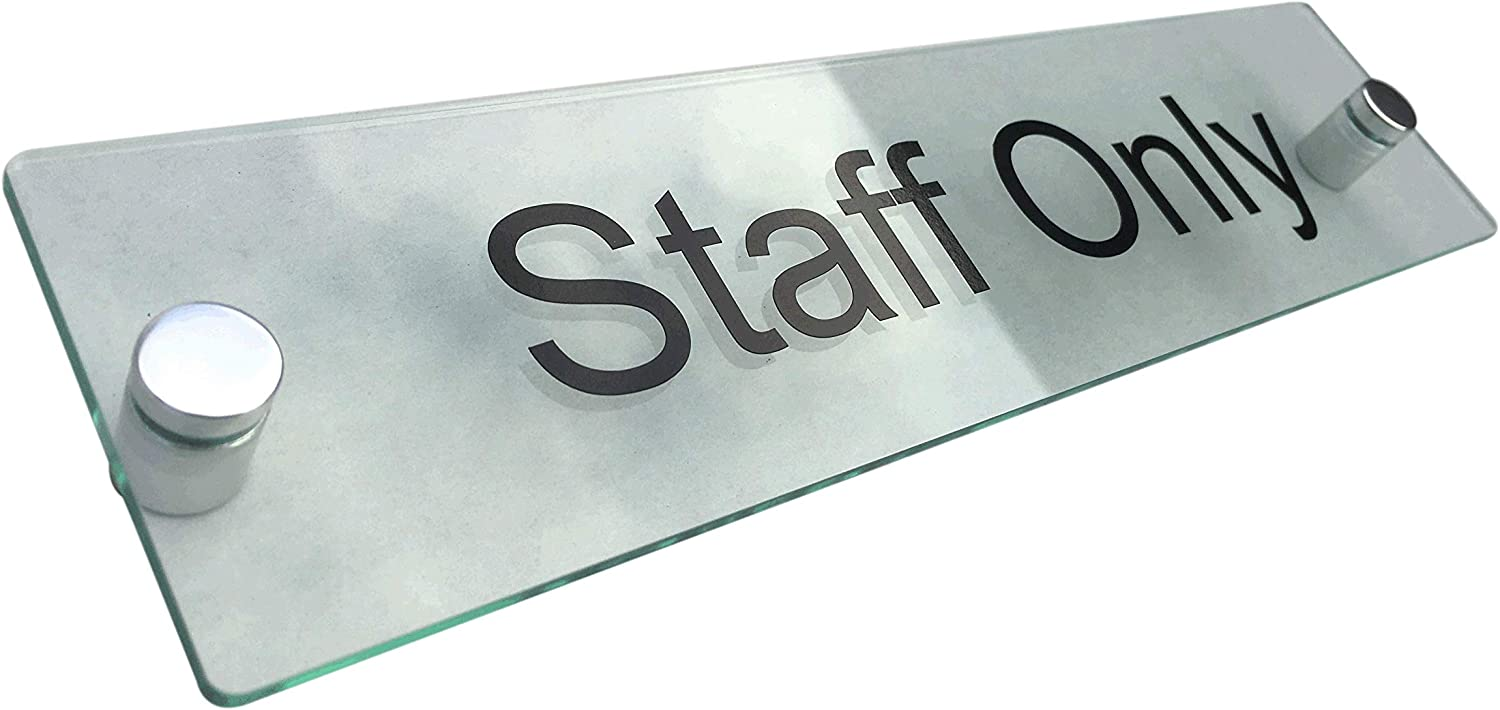 WALL SIGN//PLAQUE QUALITY ACRYLIC WITH ETCHED BACK PRIVATE OFFICE DOOR