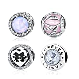 WOSTU 925 Sterling Silver Bead Charms Forever