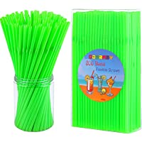 Cooraby 400 Piece Straws Bendy Disposable Straws Drinking Plastic Straws Party Flexible Straws 5 mm x 210 mm for Kids…