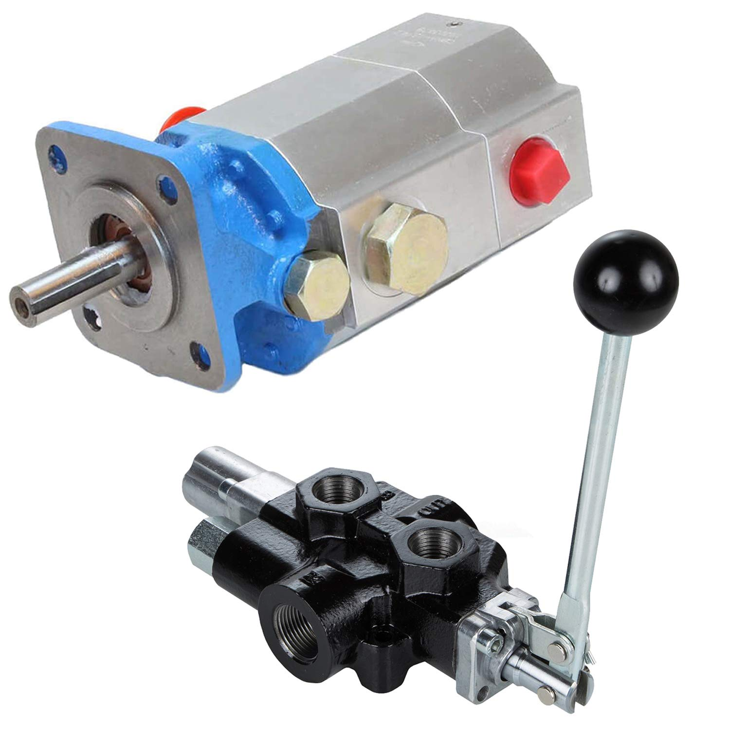 RuggedMade 11 GPM 2 Stage Hydraulic Log Splitter Pump, 18 GPM Directional Control Valve