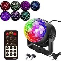 7 Colores Luces Discoteca Giratoria,Bola LED de Discoteca,Disco