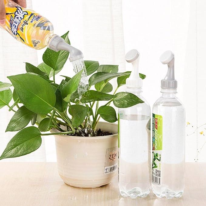 Fábrica de plástico portátil flor de jardín Boquilla de riego calibre botella de riego boquilla tapón convertidor Gris 2 Pcs: Amazon.es: Bricolaje y herramientas