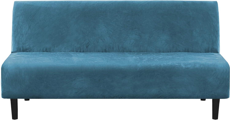 Folding Velvet Sofa Bed Cover Thick Slipcover Case Soft Bed Cover Decor New