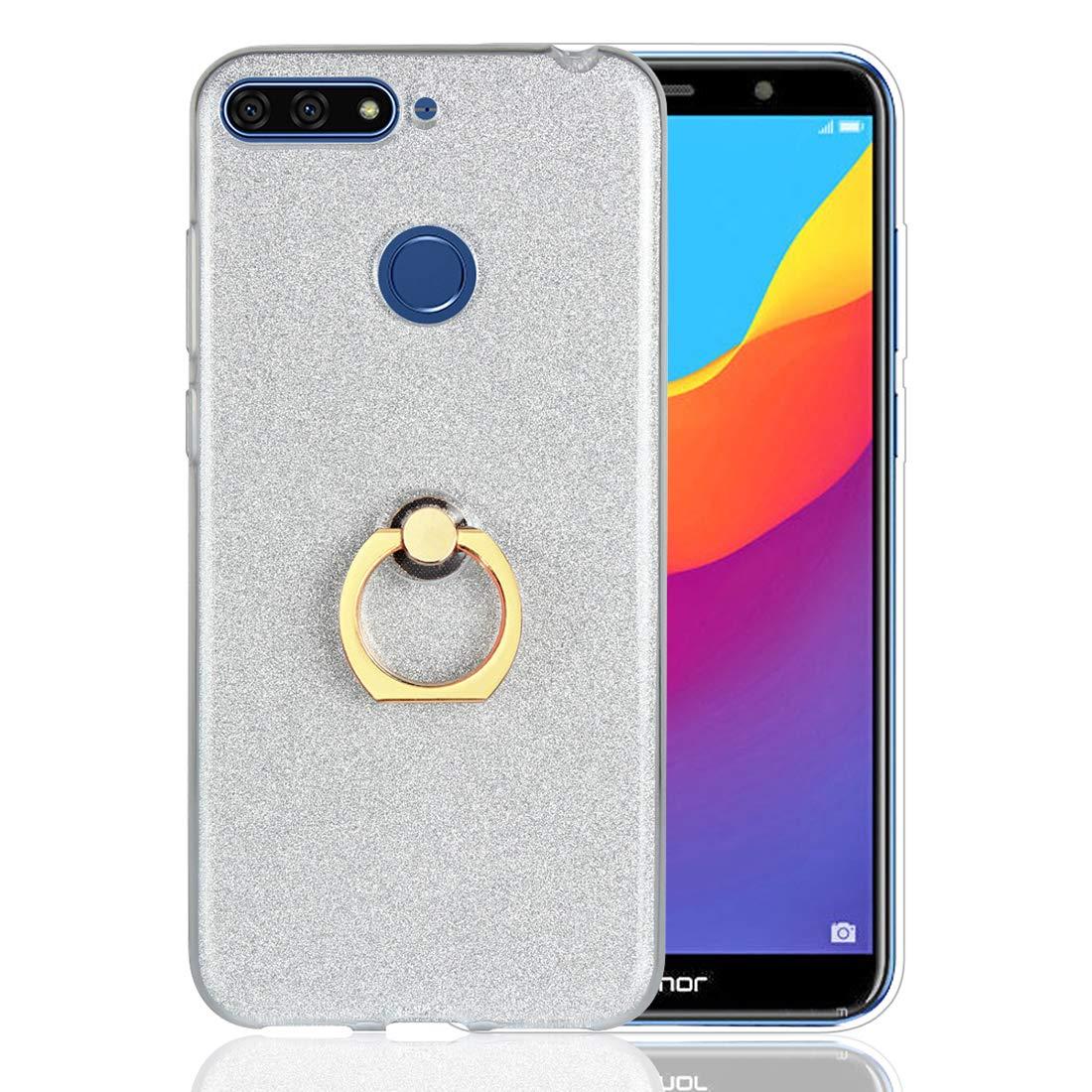 Cover Huawei Y6 2018 / Honor 7A, Lyzwn Case Cover di Alta Qualità in Silicone TPU Bumpe Custodia con Glitter Bling Scintillante Brillantini per Donna per Ragazze e Lucida Custodia
