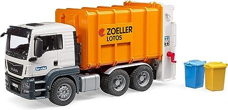 Multigo M/üllwagen LKW Lastwagen mit Spielfigur M/ülltonne M/üllabfuhr Fahrzeug mit austauschbaren Aufbauten