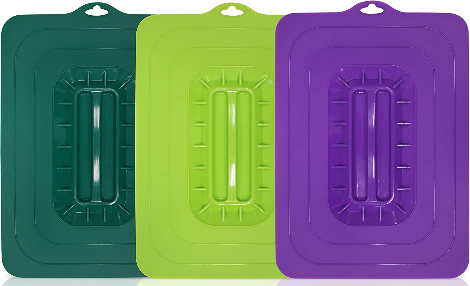 Maxi-Matic ECL-3016 Rectangular Silicone Suction Lids and Food Covers Fits various sizes of casseroles, baking pans, dishes or containers, Set of 3,